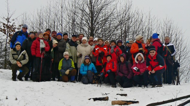Na Hončově hůrce 1.1.2015 | Foto: Vladimír Bilský
